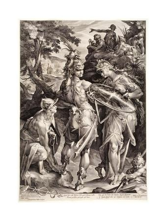 Minerva and Mercury Arming Perseus, 1604