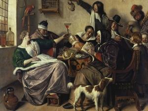 Cheerful Party (The Family of the Painter), about 1657 by Jan Havicksz. Steen
