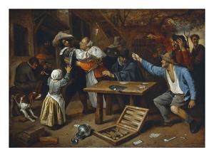 Gamblers Quarrelling, about 1664/65 by Jan Havicksz. Steen