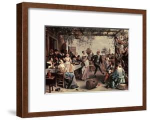 Pareja De Baile, 1663 by Jan Havicksz. Steen