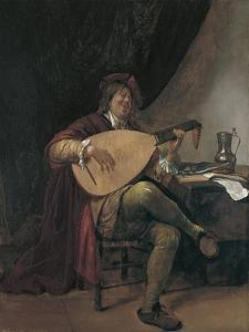 Self-Portrait Playing the Lute, Ca 1665 by Jan Havicksz Steen