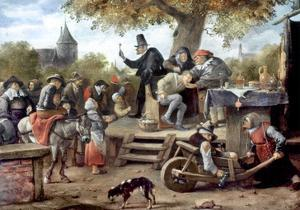 Steen: Quack, 17Th Century by Jan Havicksz. Steen