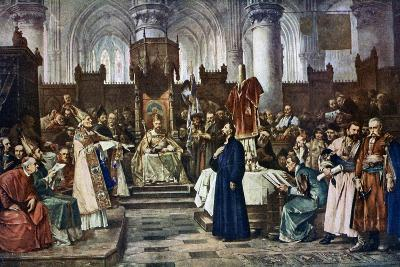 Jan Hus before the Council of Constance, 1415-Vaclav Brozik-Giclee Print