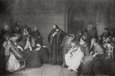 Jan Hus before the Council of Constance in 1414, 1920--Giclee Print