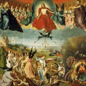 The Last Judgement, C.1525 (Oil on Oak Panel) by Jan II Provost