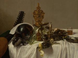Banquet Piece, c.1635 by Jan Jansz. den Uyl