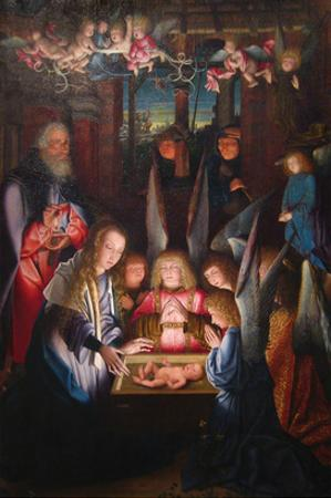 Adoration of the Christ Child by Jan Joest of Kalkar (Follower of)