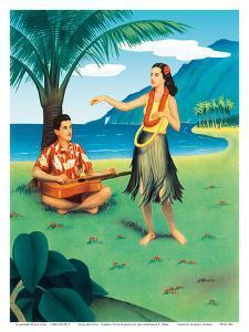 Hula Recital - Hawaii Hula Dancer by Jan Korthals