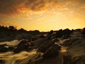 Water Flowing over Rocky Riverbed by Jan Lakey