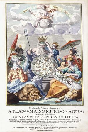 Allegorical Title-Page, from 'El Grande Nuevo Aumentado Atlas De La Mar , 1680