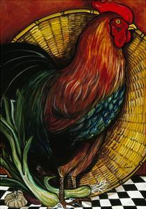 A Rooster in the Kitchen by Jan Panico