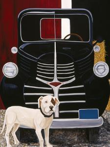 Virgil in Front of the Ranch Truck by Jan Panico