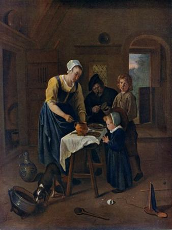 A Peasant Family at Meal-Time ('Grace before Meat), C1665