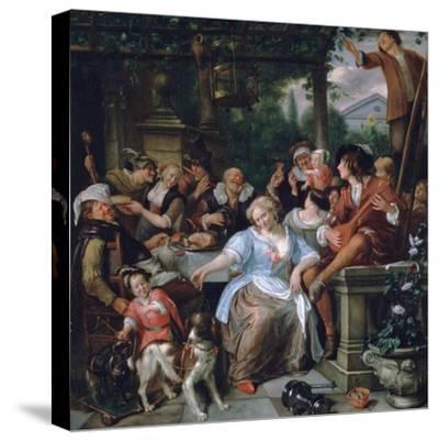Merry Company on a Terrace, C1673-1675