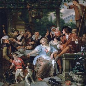 Merry Company on a Terrace, C1673-1675 by Jan Steen