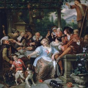 Merry Company on a Terrace, C1673-1675 by Jan Steen