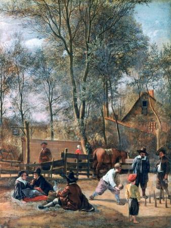 Skittle Players Outside an Inn, C1660