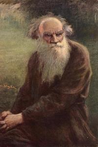 Portrait of the Author Leo N. Tolstoy (1828-191), 1910 by Jan Styka
