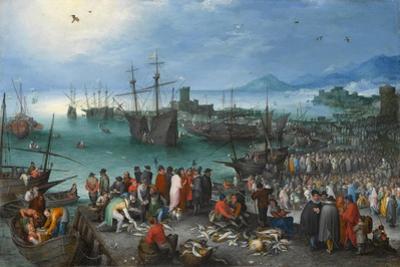 Harbor Scene with St. Paul's Departure from Caesarea, 1596 by Jan the Elder Brueghel
