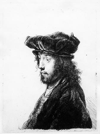 An Oriental Head, Etched by Rembrandt, C.1635 (Etching)