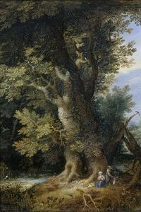 Rest on the Flight into Egypt, 1600-99 by Jan the Younger Brueghel