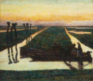 Broek in Waterland, 1889 by Jan Theodore Toorop