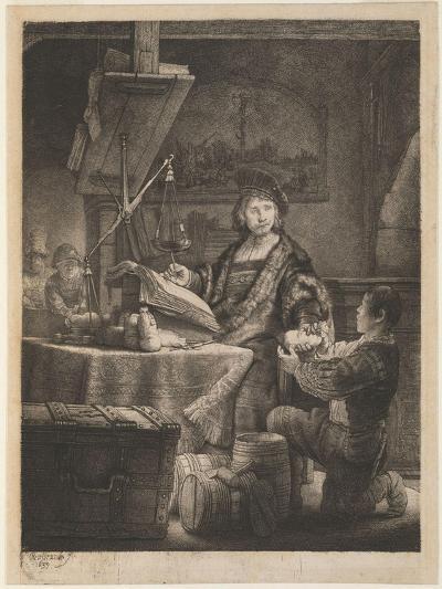 Jan Uytenbogaert, the Goldweigher, 1639-Rembrandt van Rijn-Giclee Print