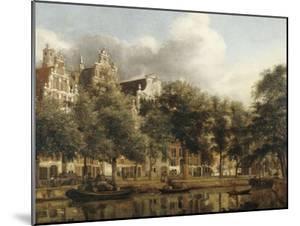 Le Herengracht à Amsterdam by Jan Van Der Heyden