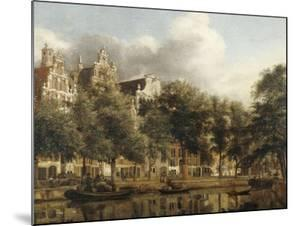 Le Herengracht à Amsterdam by Jan Van Der Heyden