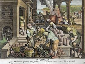 A Sugar Mill and the Production of Sugar Loaves, plate 14 from 'Nova Reperta' by Jan van der Straet