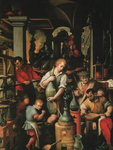 Alchemist's Workshop by Jan van der Straet