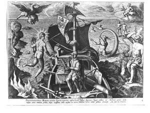 Ferdinand Magellan (circa 1480-1521) on Board His Caravel, 1522 by Jan van der Straet