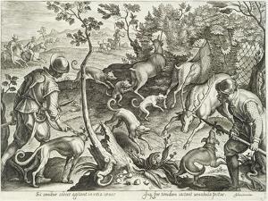 Plate from the Series Venationes Ferarum, Avium, Piscium, Fiandre by Jan van der Straet