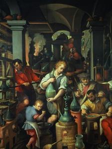 The Alchemist's Workshop, 1570 by Jan van der Straet