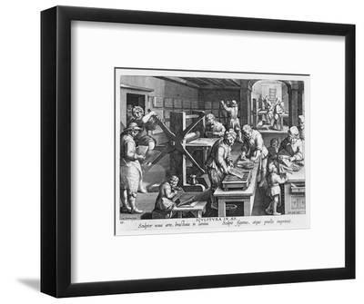 The Invention of Copper Engraving, Plate 20 from 'Nova Reperta'