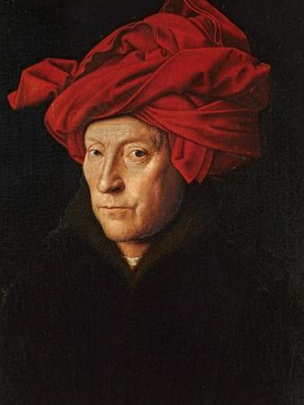A Man in a Red Turban (Self-Portrait of Jan Van Eyck), 1433