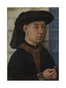 A Young Man Holding a Ring, C. 1450 by Jan van Eyck