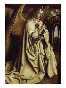 Archangel Gabriel, Ghent Altarpiece by Jan van Eyck
