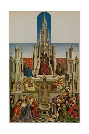 'La Fuente De La Vida', (The Fountain of Grace), 1430-1455, (c1934)