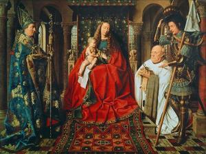 Madonna and Child with Canon Joris Van Der Paele, 1436 by Jan van Eyck
