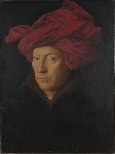Portrait of a Man (Self Portrai), 1433 by Jan van Eyck