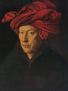 'Portrait of a Man (Self Portrait?)', 1433 by Jan van Eyck