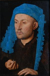 Portrait of a Man with a Blue Chaperon (Man with Rin) by Jan van Eyck