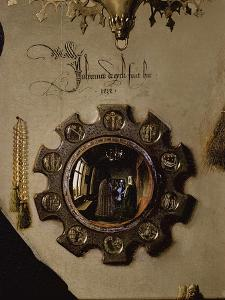 Portrait of Giovanni Arnolfini and his Wife, c.1434 (detail) by Jan van Eyck