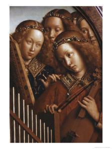 Singing Angels, Ghent Altarpiece by Jan van Eyck