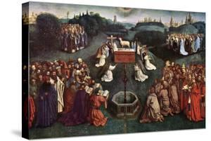 'The Adoration of the Mystic Lamb', The Ghent Altarpiece, 1432, (c1900-1920).Artist: Jan van Eyck by Jan van Eyck