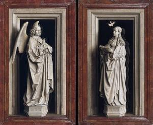The Annuciation Diptych by Jan van Eyck