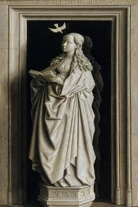 The Annunciation (Diptych, Right Pane), 1434-1435 by Jan van Eyck