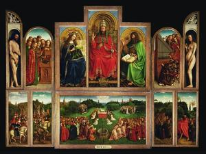 The Ghent Altar, Polyptych with the Adoration of the Mystical Lamb, 1432 by Jan van Eyck