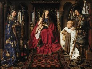 The Madonna with Canon Van Der Paele, 1436 by Jan van Eyck
